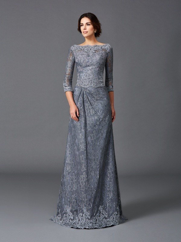 A-Line Bateau Brush Train Other Mother of the Bride Dresses with Lace