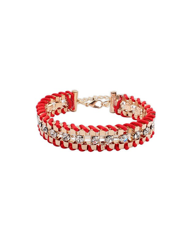 Occident Ethnic Customs Woven Rhinestone Fashion Bracelets