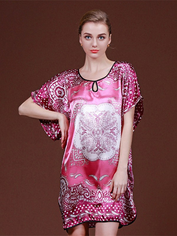 Soft Silk like Satin Print Pajamas