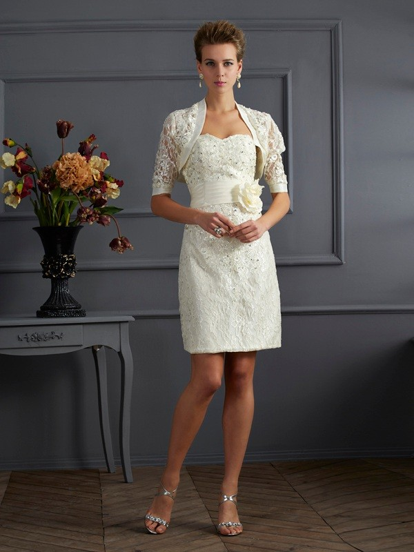 Lace Short Sleeves Special Occasion Fashion Wrap