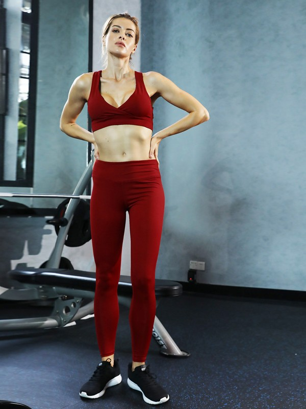 Fashion Cotton Yoga Sports Bra&Leggings