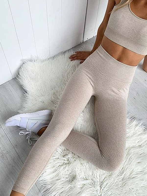 Attractive Cotton Yoga Sports Bra&Leggings