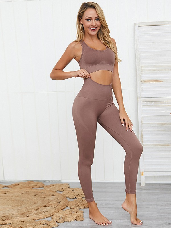 Charming Cotton Yoga Sports Bra&Leggings