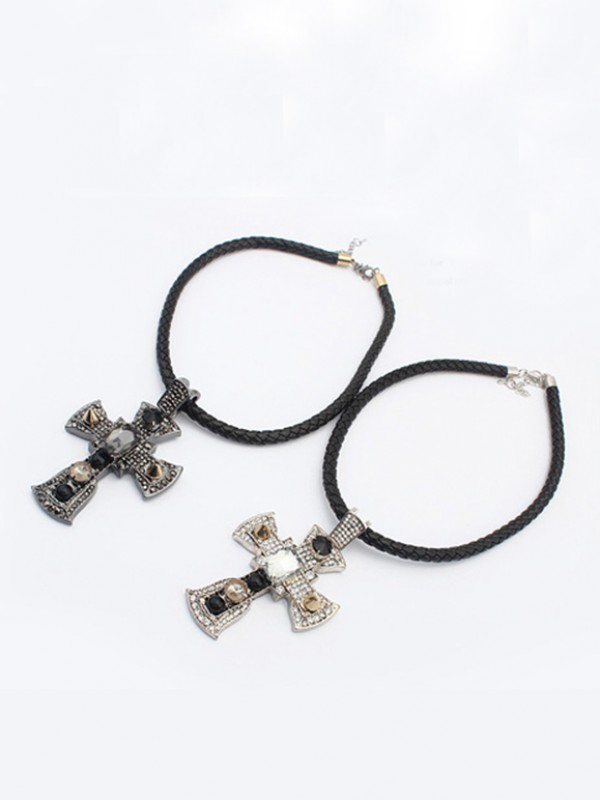Occident Punk Retro Cross Fashion Necklace