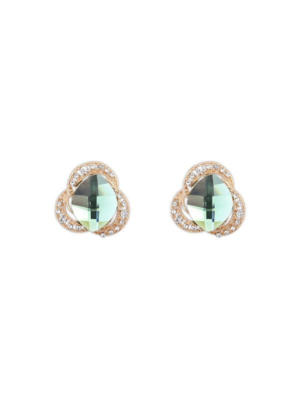 Occident Three Flowers Bohemia Customs Stud Fashion Earrings