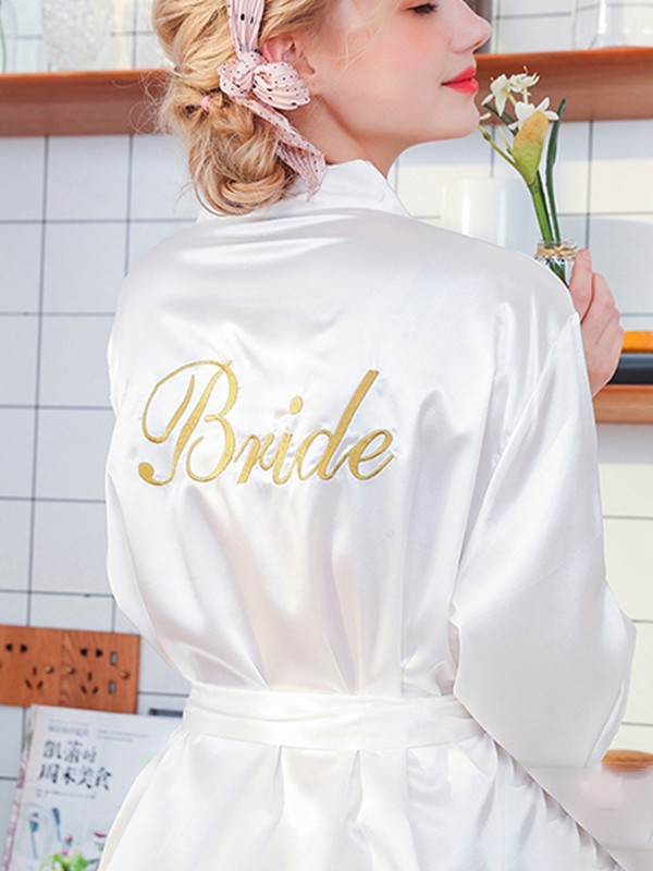 Comfortable Silk like Satin Bride Robes