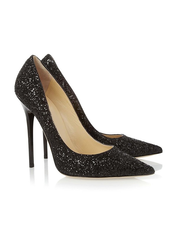 Closed Toe Stiletto Heel With Sequin Party & High Heels